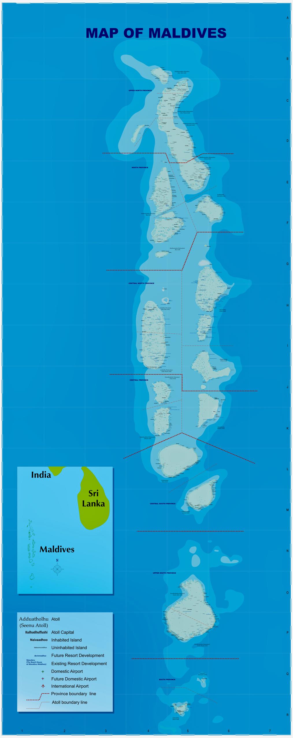Karte der Malediven