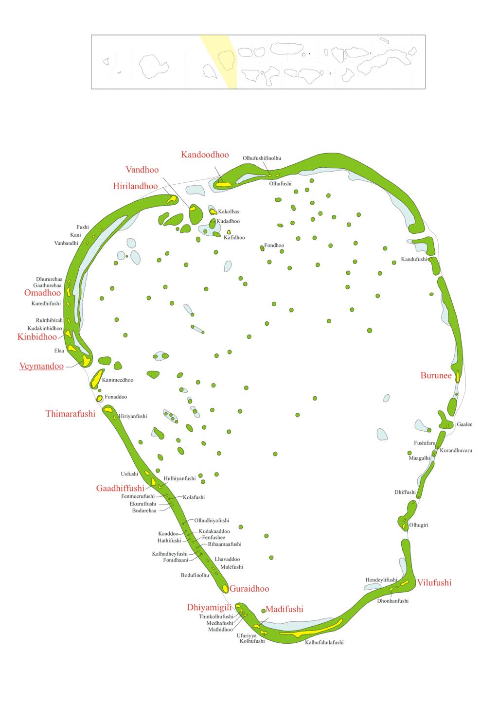 Karte des Distrikts Thaa