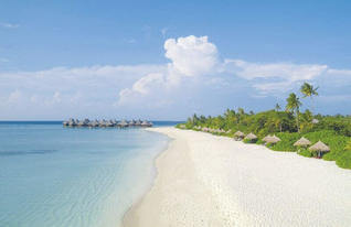 Coco Palm Dhuni Kolhu Strand mit Wasser Bungalows