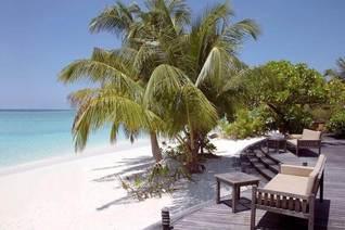 Coco Palm Dhuni Kolhu Villa Strand Terrases