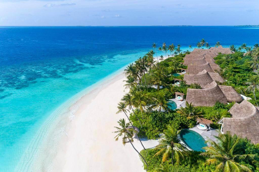 Milaidhoo Island Strandresidenzen von oben