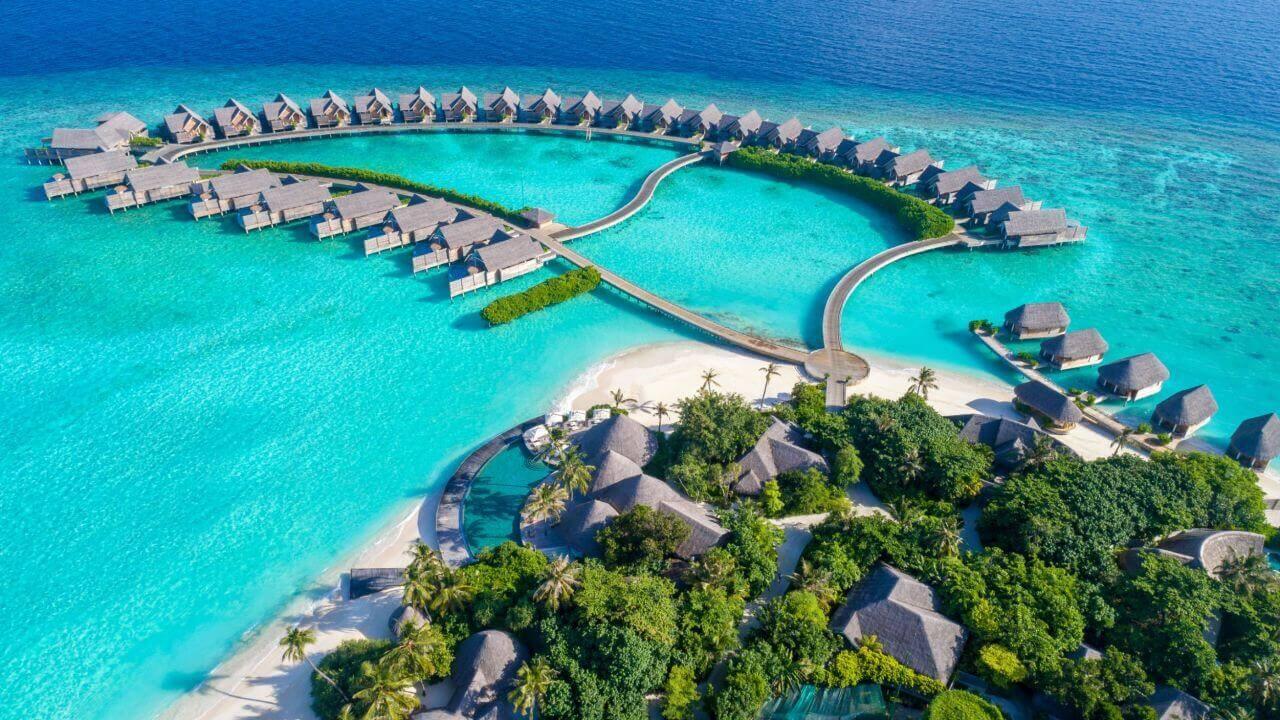 Milaidhoo Island Insel Resorts von ganz oben