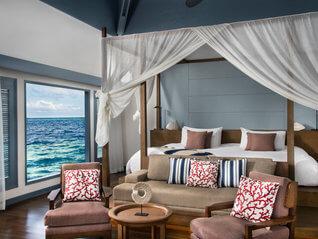 Raffles Maldives Meradhoo Resort Wasser Villa Wohnbeispiel