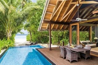 Shangri-La's Villingili Resort und Spa Insel Villa mit Pool