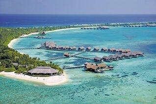 Shangri-La's Villingili Resort und Spa Insel Resorts von ganz oben