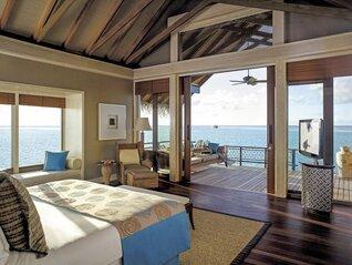 Shangri-La's Villingili Resort und Spa Wasser Villa Wohnbeispiel