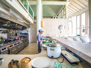Soneva Jani Restaurant Küche a la Carte