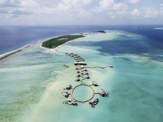Soneva Jani Insel Resorts von ganz oben