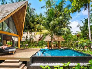 The St. Regis Maldives Vommuli Resort Villa mit Pool Wohnbeispiel