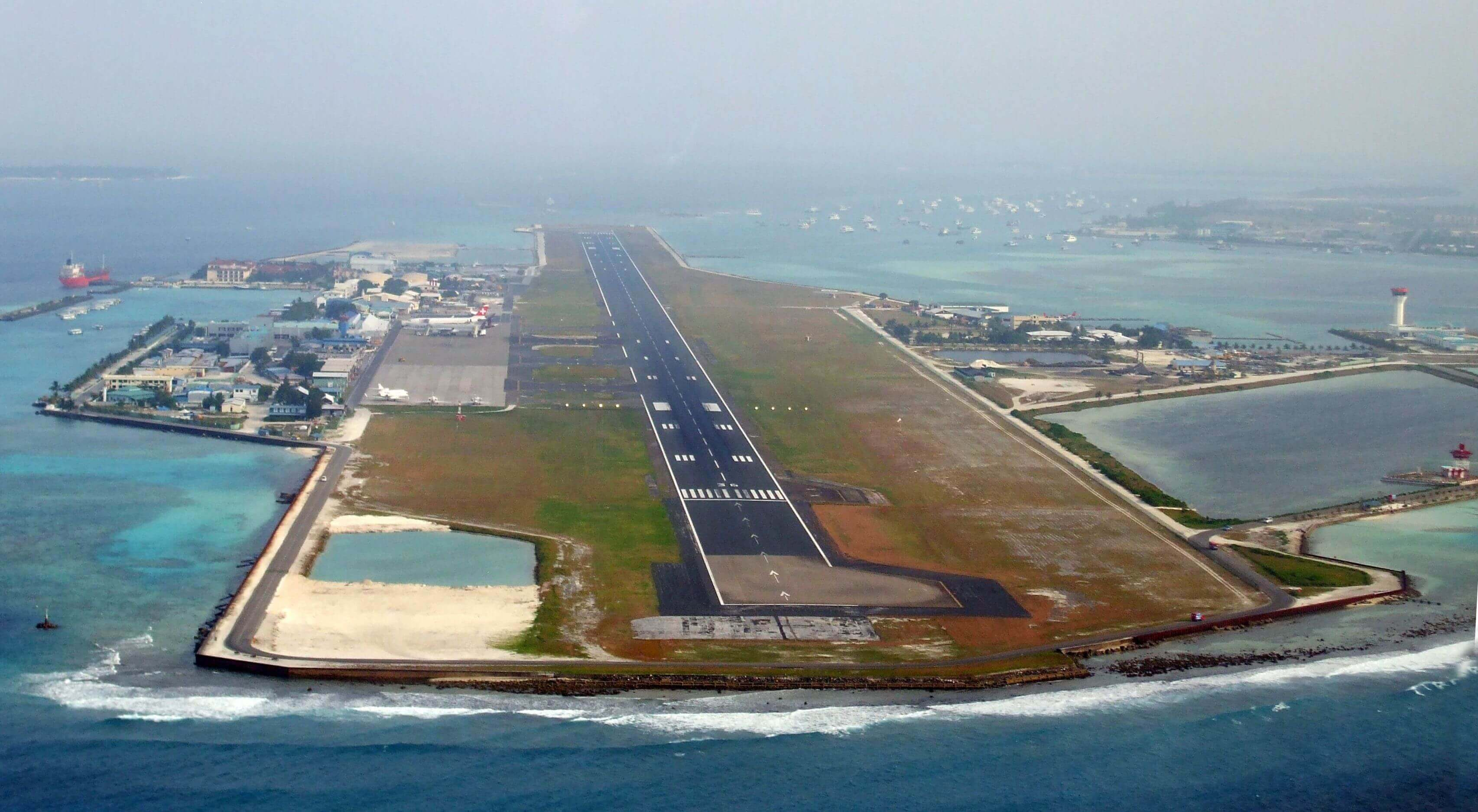 Linienflug Ankunft am Malé International Airport MLE