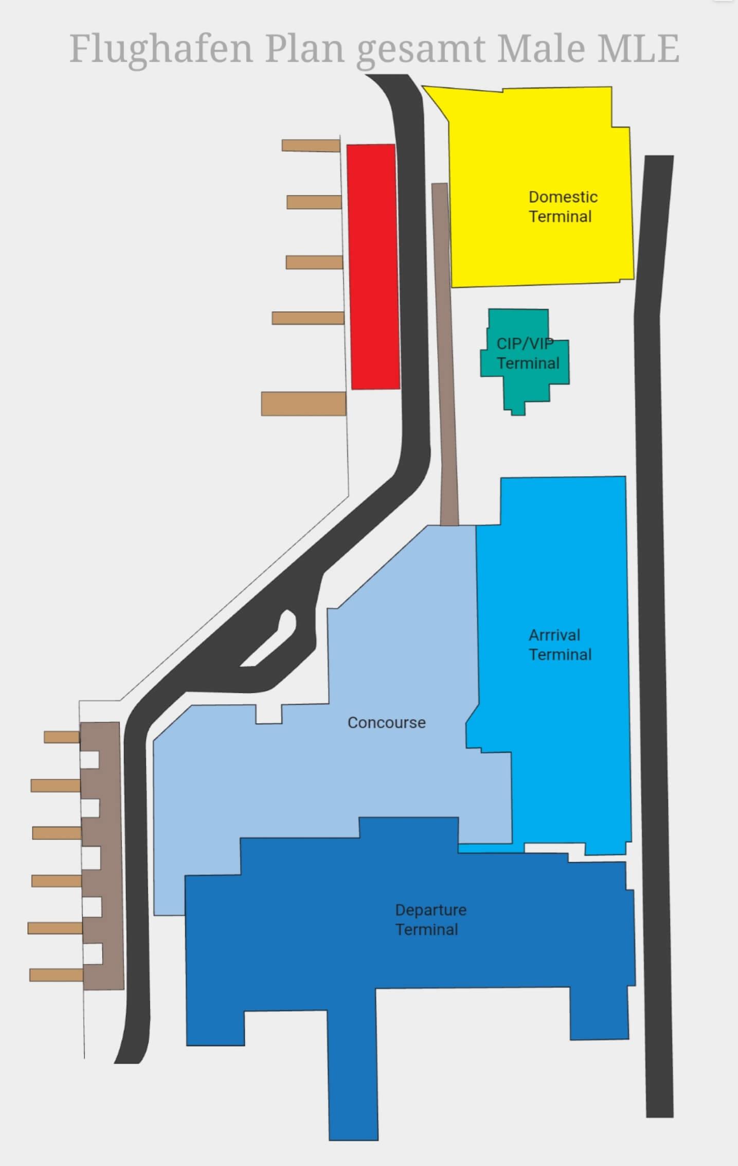 Male MLE Flughafen Plan Gesamt