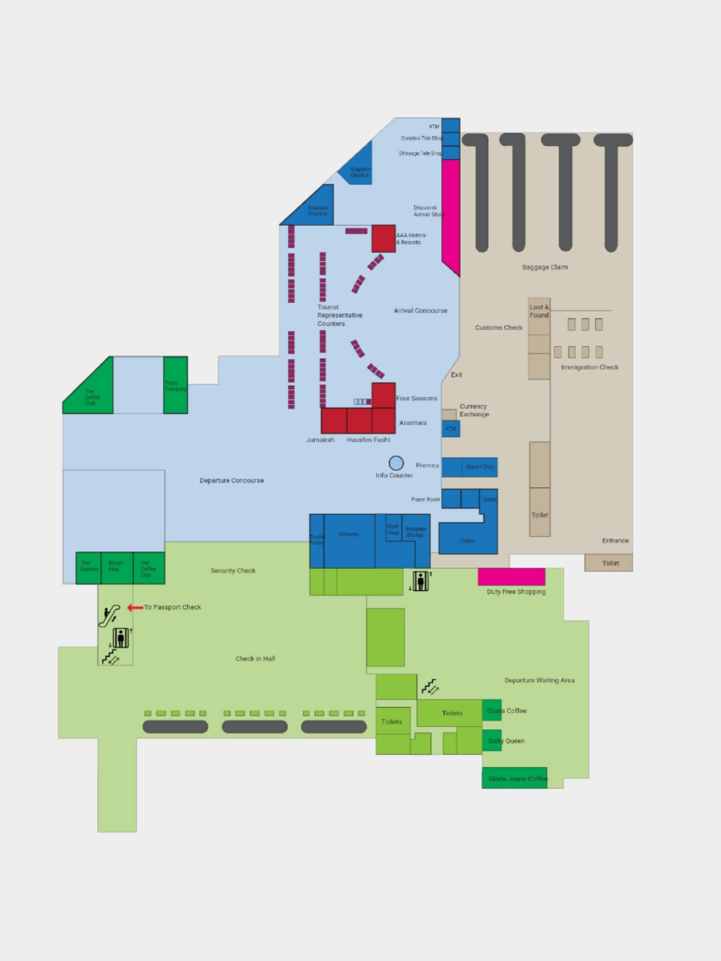 Male MLE Flughafen Plan Terminal International